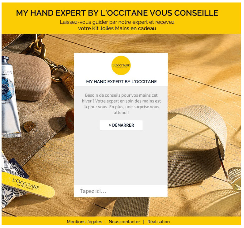 Example of a promotional visual of l'Occitane.