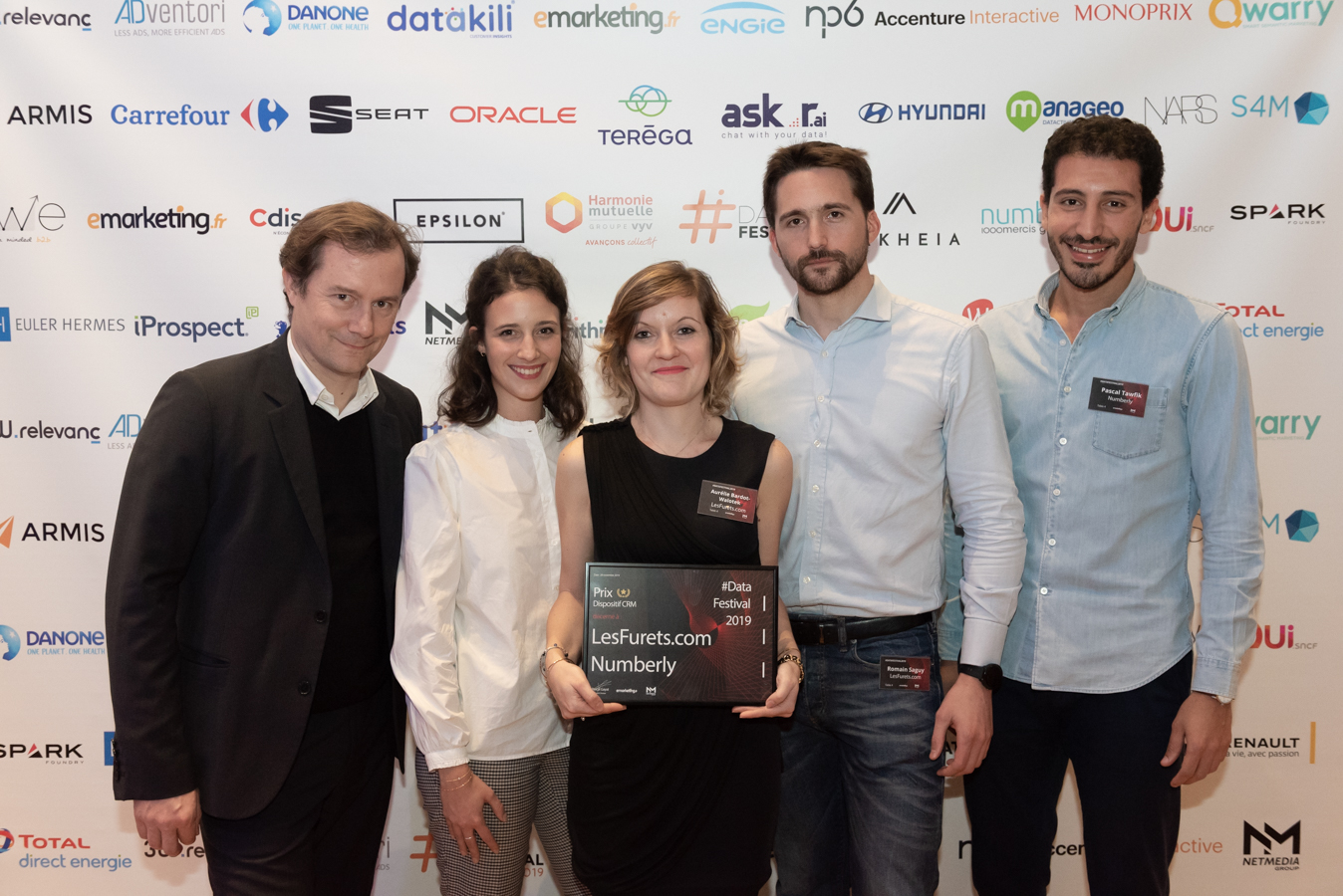 Numberly and LesFurets teams at the awards ceremony