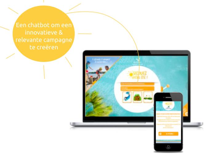 Een chatbot om een innovatieve & relevante campagne te creëren Een innovatieve chatbot die zowel op desktop- als mobiele apparaten kan worden gebruikt.