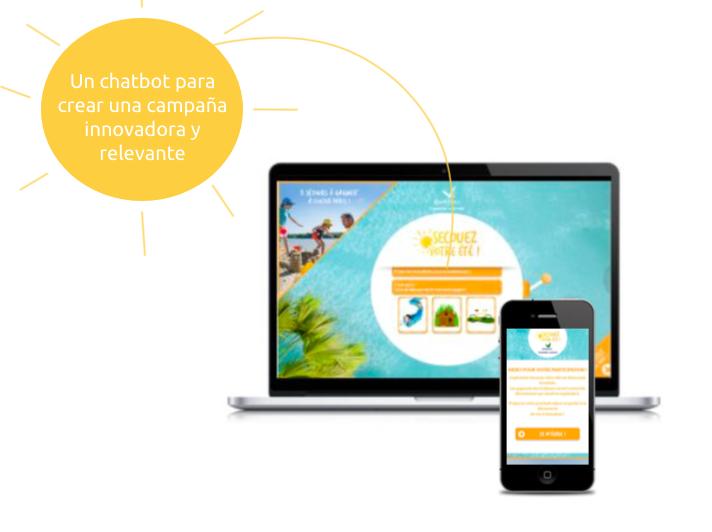 Un chatbot para crear una campaña innovadora y relevante. Un innovador chatbot que puede ser usado tanto en dispositivos de escritorio como móviles.
