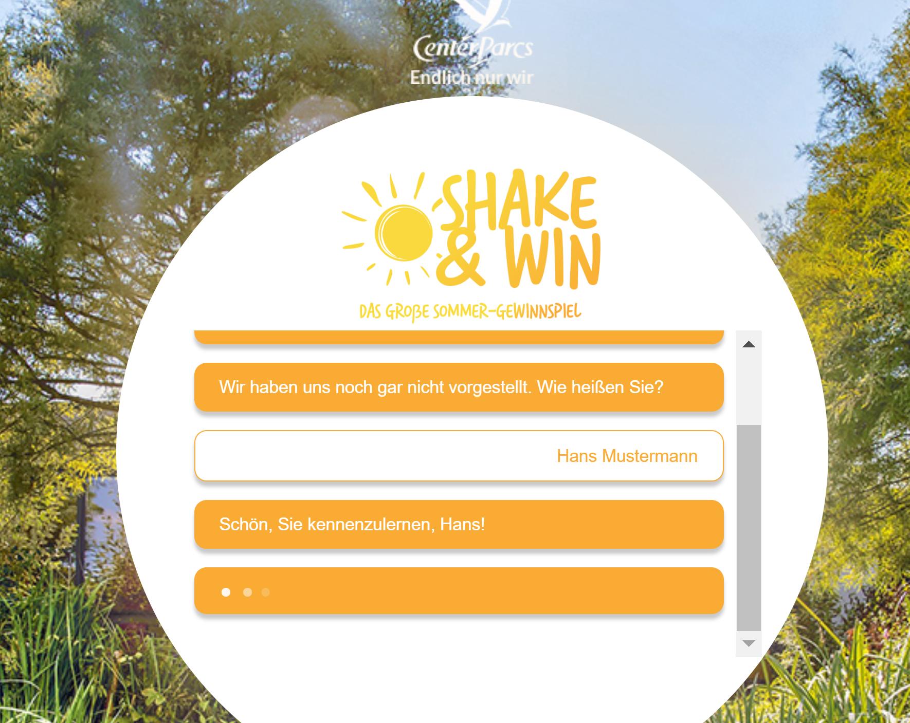 Ein Chatbot zur Erstellung einer innovativen und relevanten Kampagne Ein innovativer Chatbot, der sowohl auf Desktop- als auch auf Mobilgeräten eingesetzt werden kann.