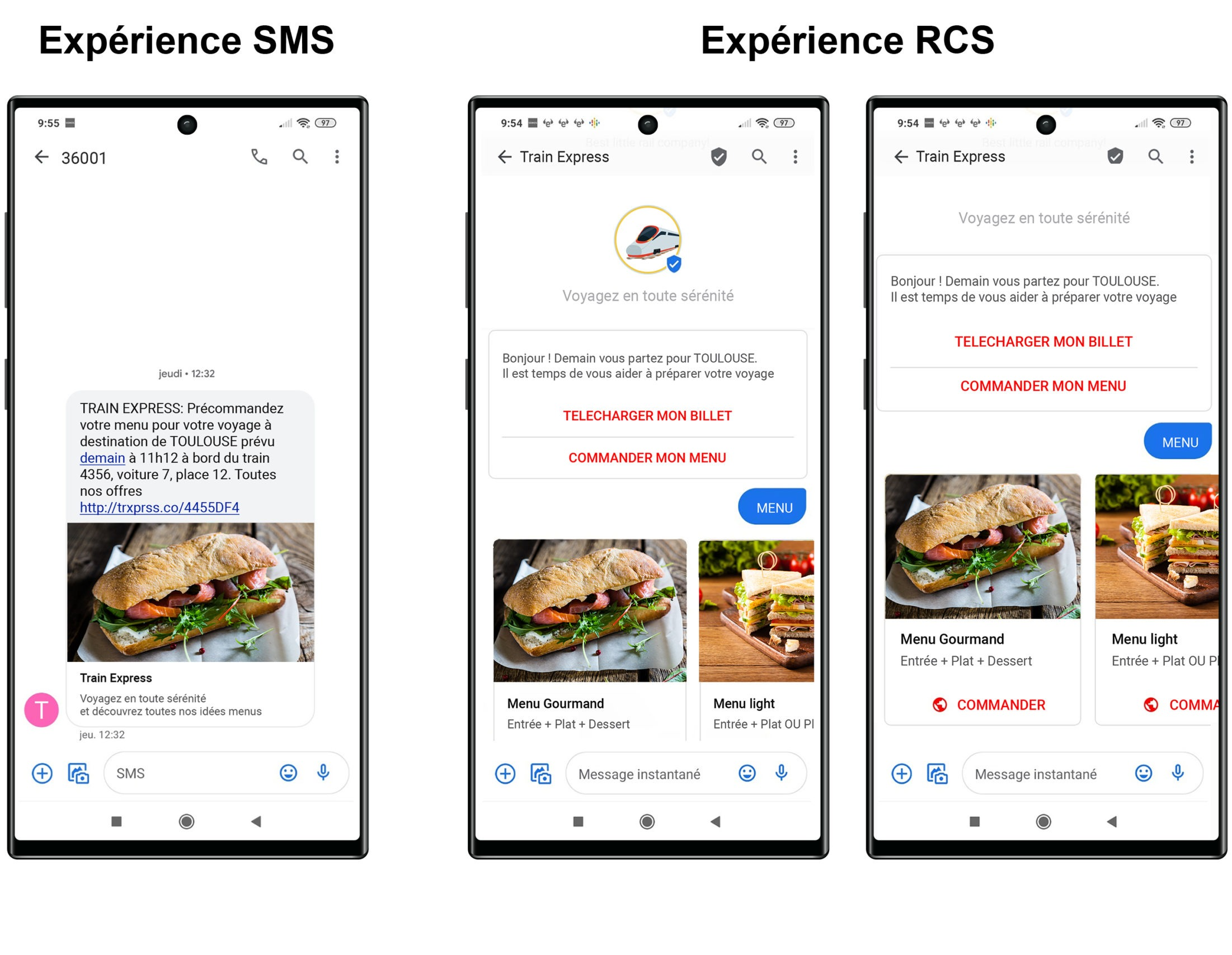 Experience SMS/ Experience RCS